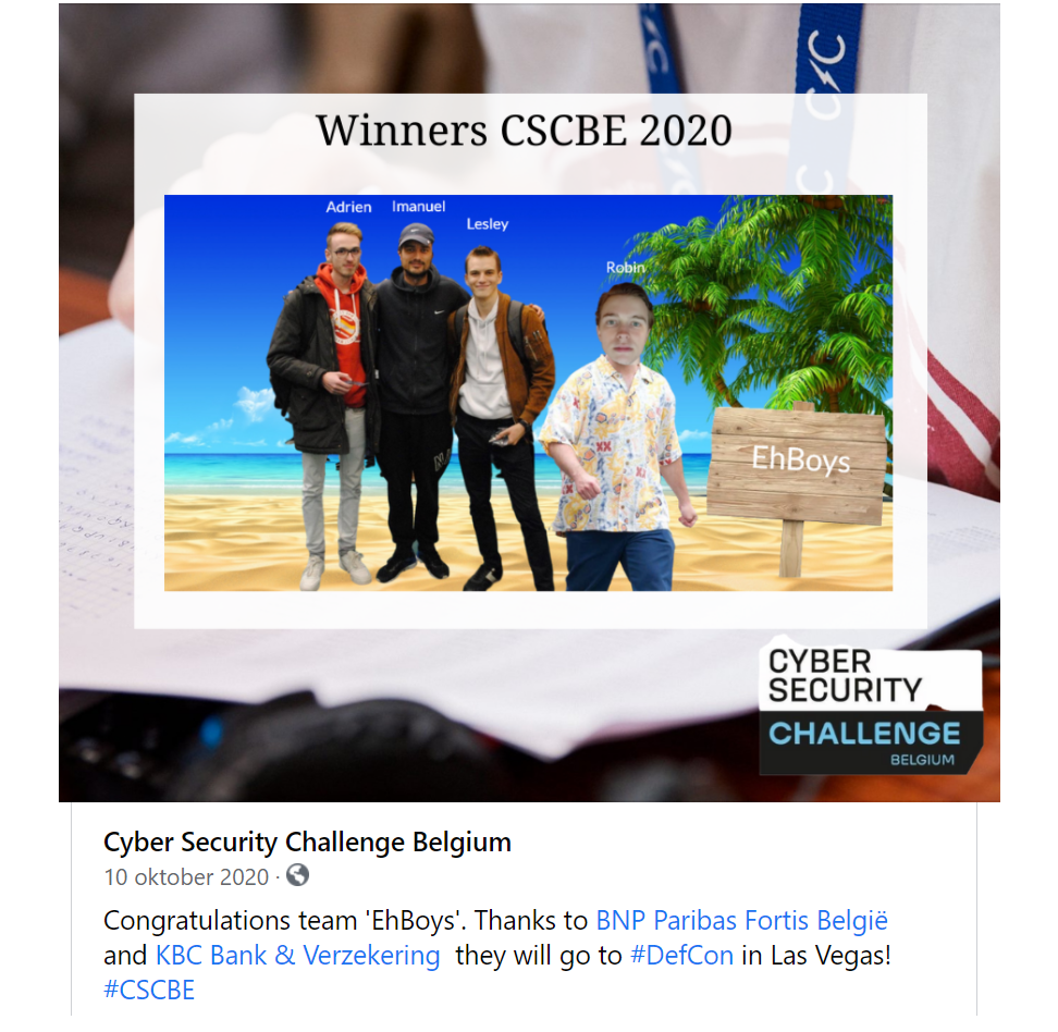 winnaars CSCBE