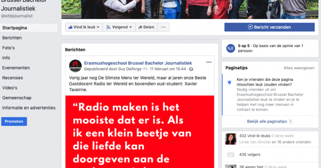 facebookpagina journalistiek